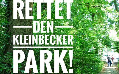 Rodung des Kleinbecker Parks aufhalten