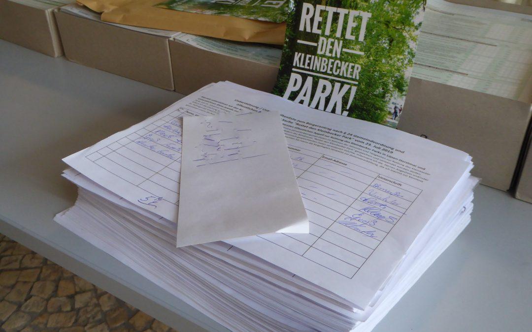 Bürgerantrag mit 3.122 Unterschriften übergeben